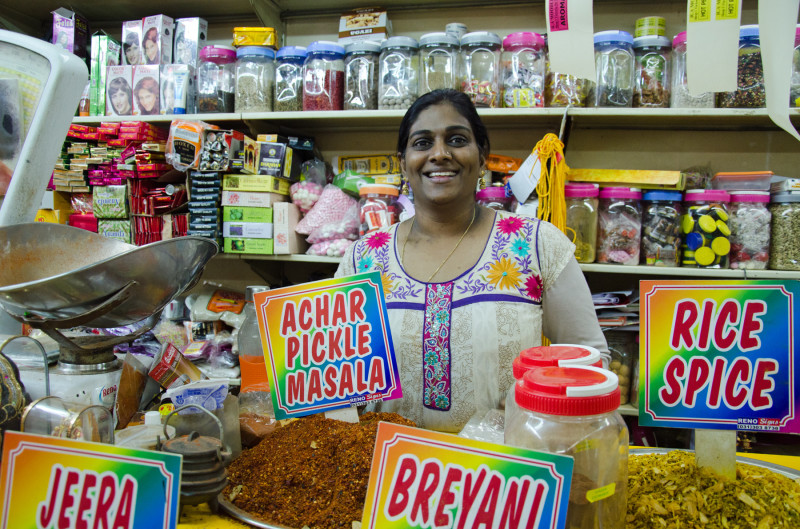 Sanusha at the Victoria Spice Market