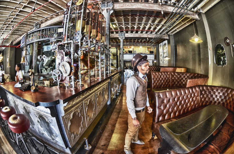 Truth Cafe interior - steam punk
