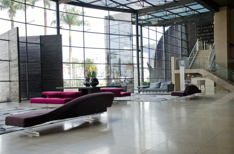 Unique hotel lobby