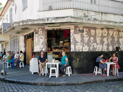 a bar in Santa Teresa, Rio