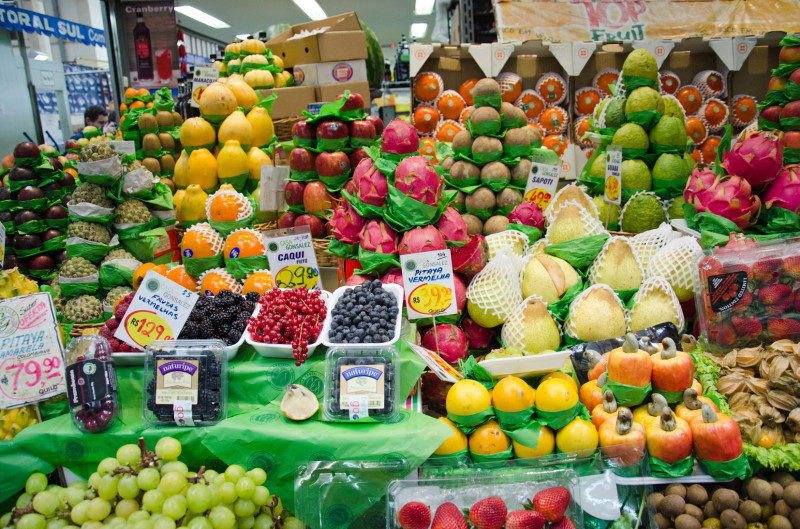 Local and imported exotic fruit