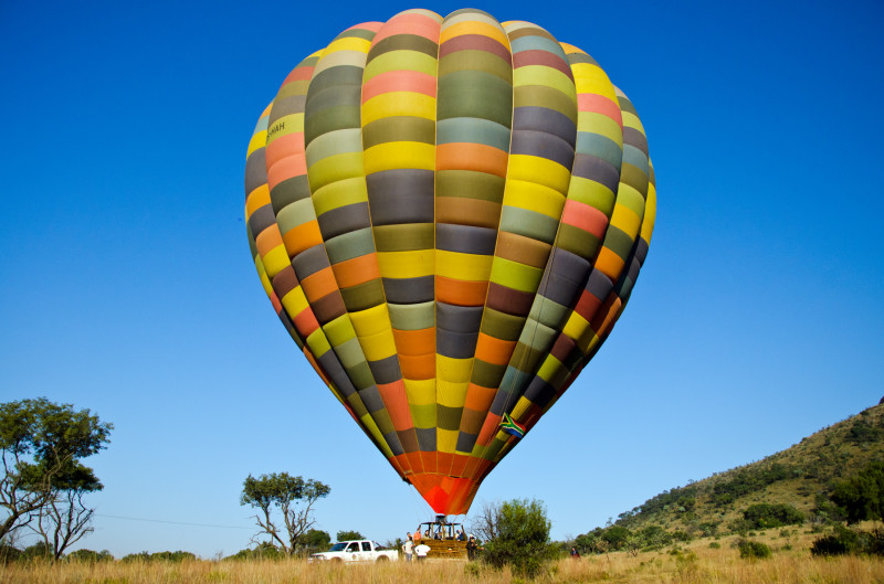 hot air balloon, Africa