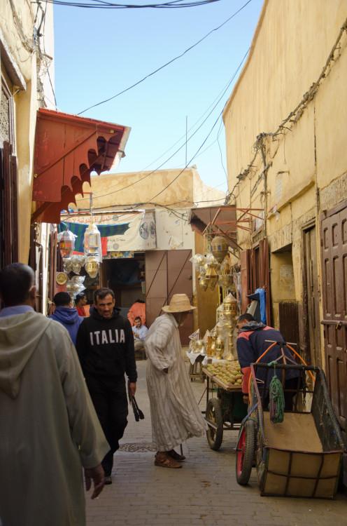 market scene, Fez