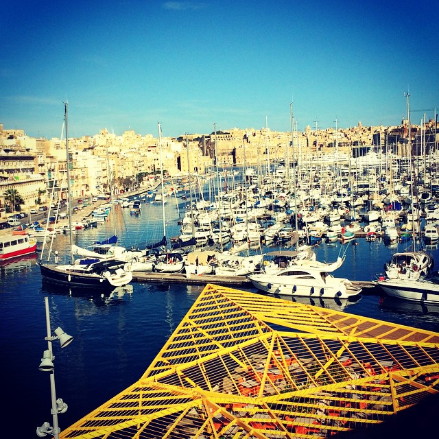 Pick a boat, any boat. Galley Creek with Senglea and Valetta across #malta #maltaismore