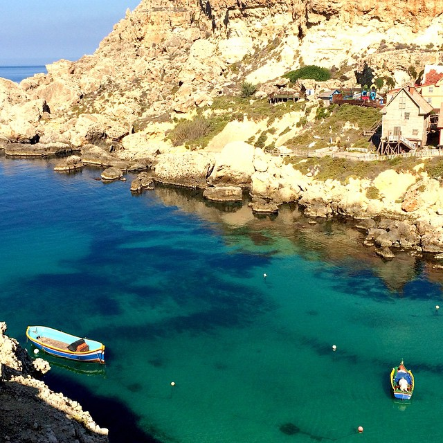 Hard to believe this isn't fake. Anchor's bay at the Popeye village movie set in #Malta #maltaismore