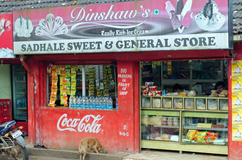 sweet store, goa
