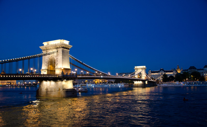 Chain Bridge, by evening light