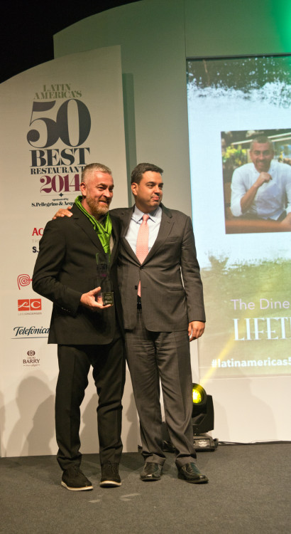 Alex Atala at Latin America's World's 50 Best