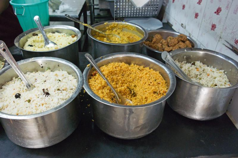 bryani and rice dishes