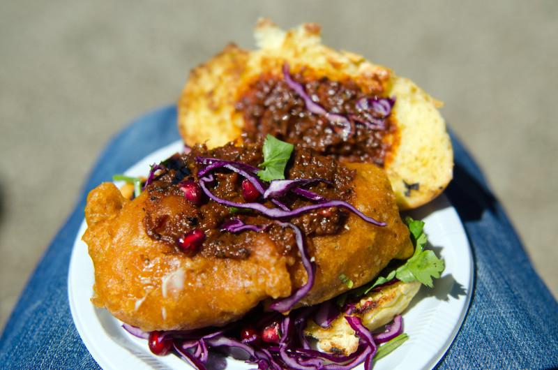 famous Crabbie Shack burger