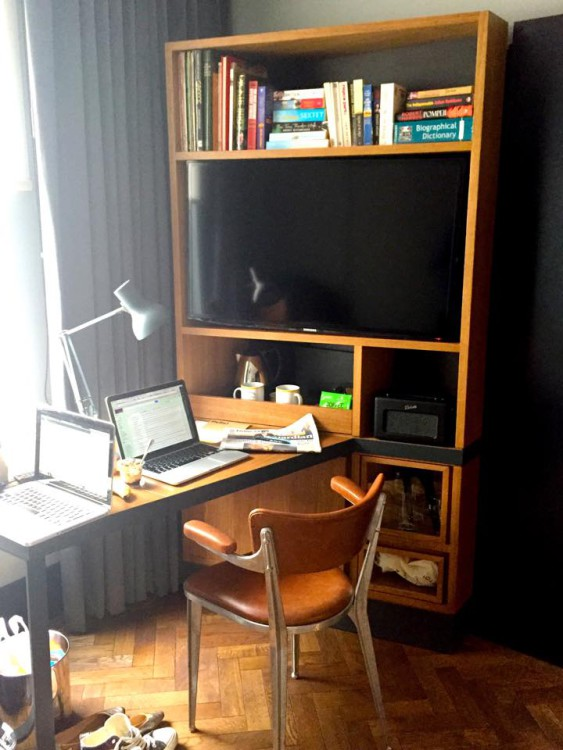 Desk at the Hoxton Hotel, Shoreditch, London