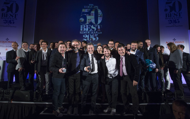 20150601 © The WorldÕs 50 Best Restaurants 2015, sponsored by S.Pellegrino & Acqua Panna, and onEdition Photography, the official photographers for 2015 (foreground) Jordi, El Celler de Can Roca, Massimo Bottura, Osteria Francescana, Joan, El Celler de Can Roca, Rene Redzepi, Noma and Josep, El Celler de Can Roca Winners of The WorldÕs 50 Best Restaurants, sponsored by S.Pellegrino and Acqua Panna.