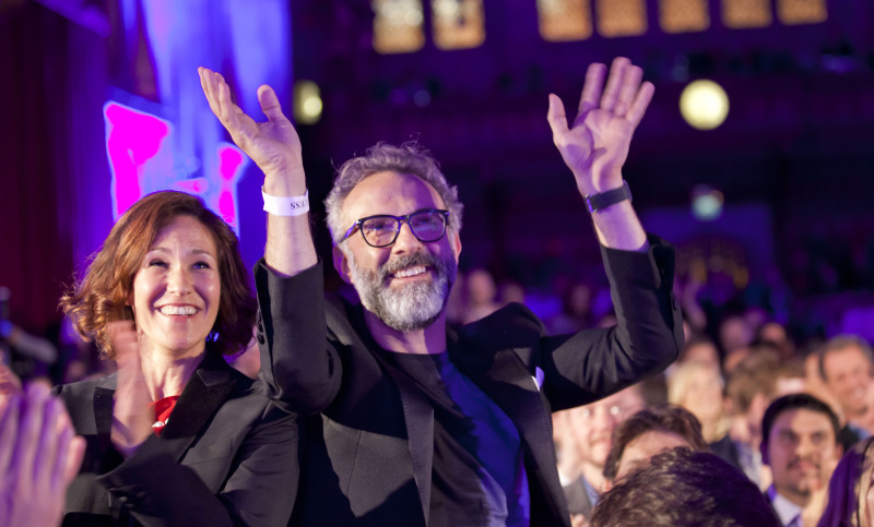 20150601 © The WorldÕs 50 Best Restaurants 2015, sponsored by S.Pellegrino & Acqua Panna, and onEdition Photography, the official photographers for 2015 Lara Gilmore and Massimo Bottura, Osteria Francescanaat The WorldÕs 50 Best Restaurants, sponsored by S.Pellegrino and Acqua