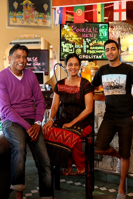 The late Neville Reddy, Shamen Reddy (centre) and son. Image supplied