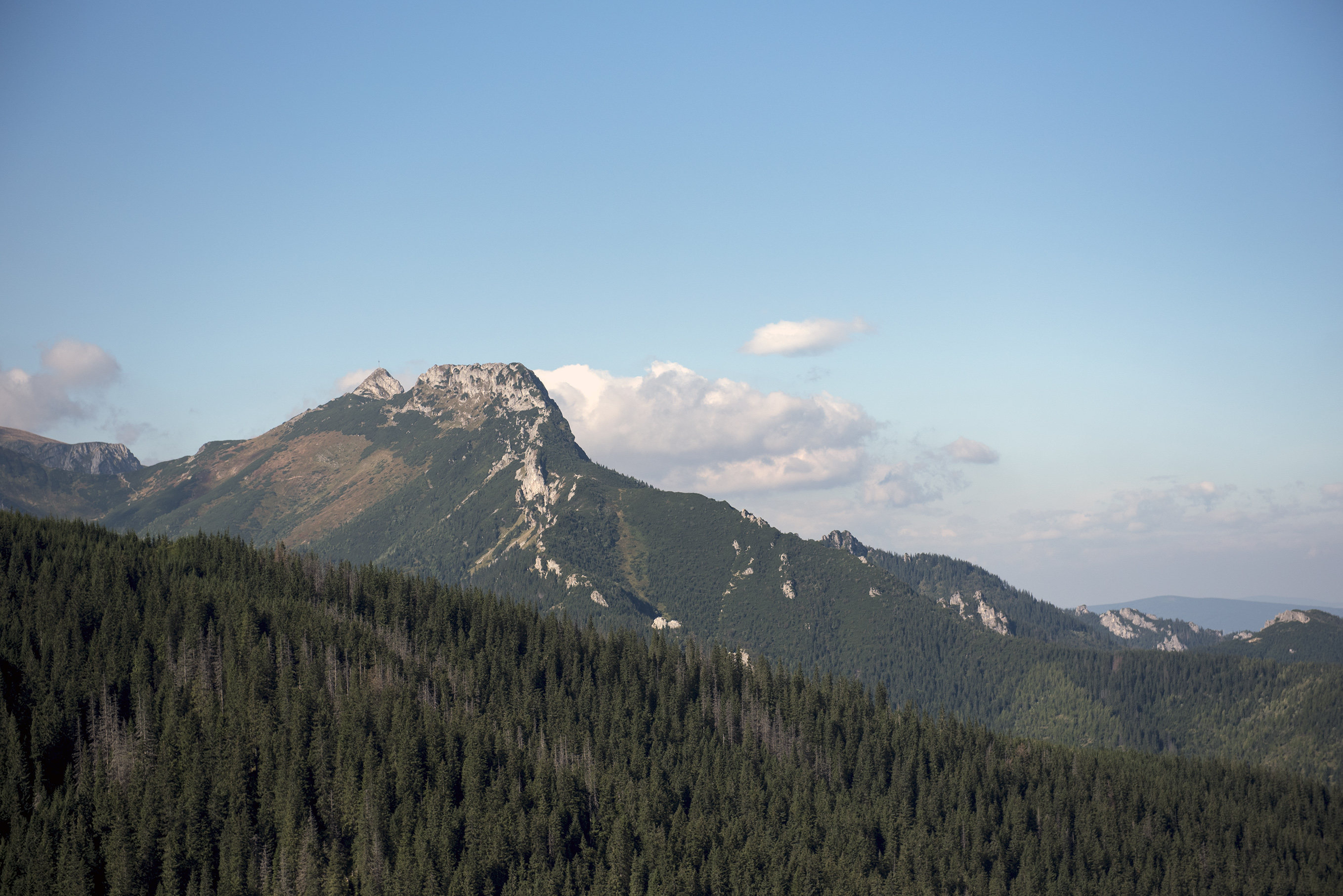 snow on Mount Giewont