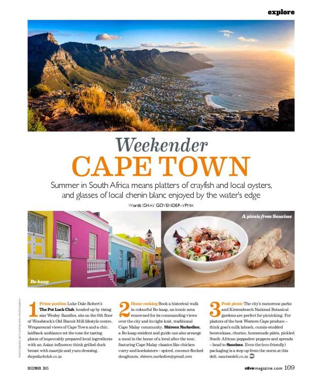 Olive magazine Cape Town