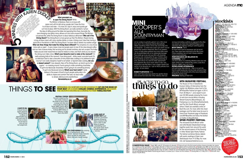 Marie Claire Agenda Lifestyle Feature - Page 3&4