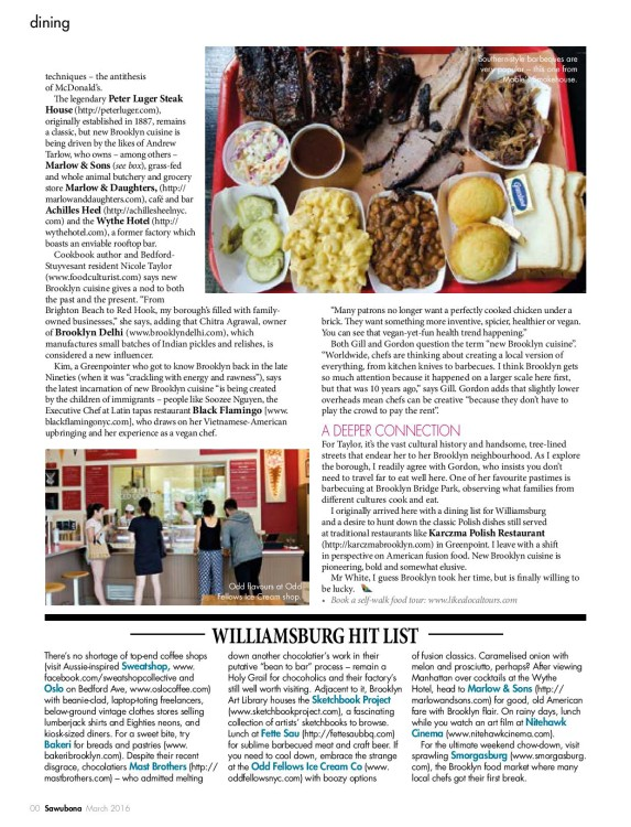 Last page of Brooklyn Cuisine Feature