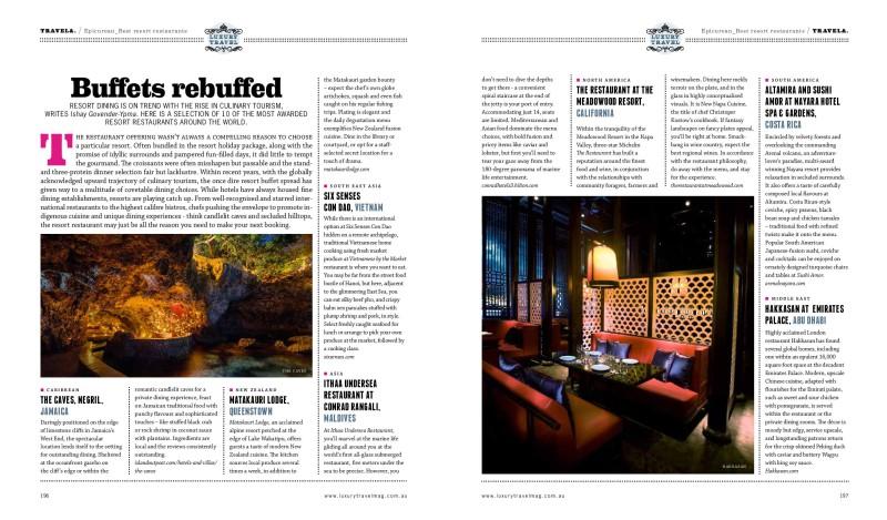 Buffets rebuffed resort restaurant feature article - 1