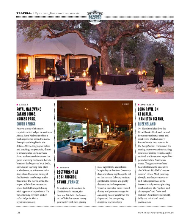 Buffets rebuffed resort restaurant feature article - 2