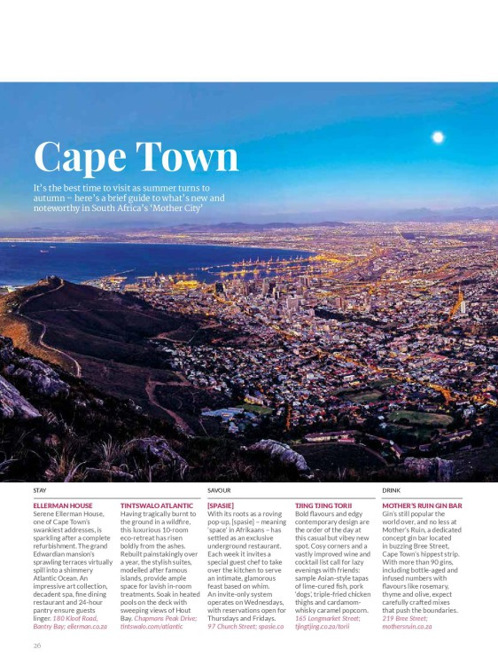 travel insider guide cape town