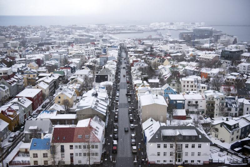 Reykjavik from the main church
