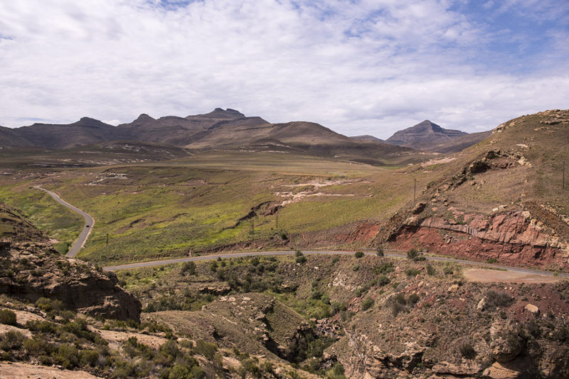 Roads in Royal National Park near Clarens, Free State