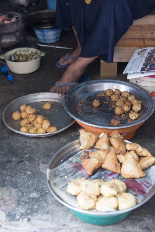 kachoris and other snacks sold in Stone Town