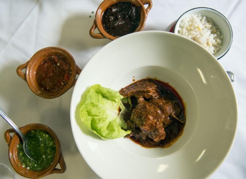 a dish at Nicos bistro