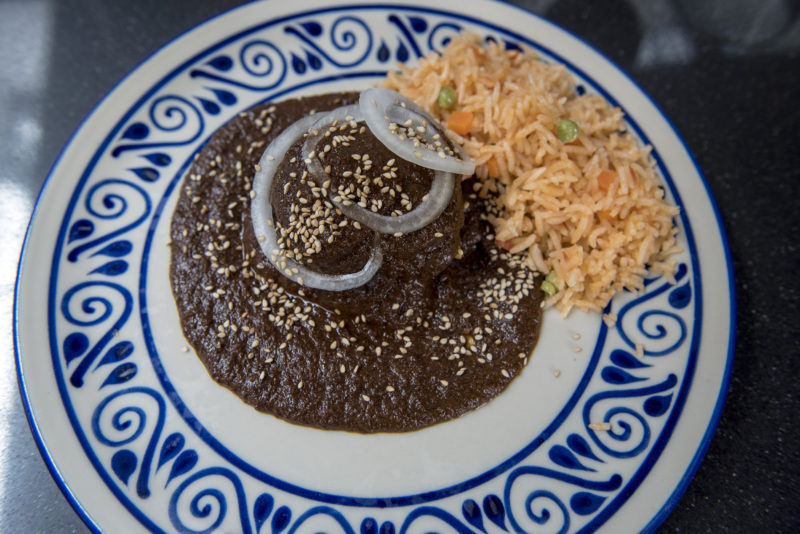home-style mole Poblano made in a cooking class