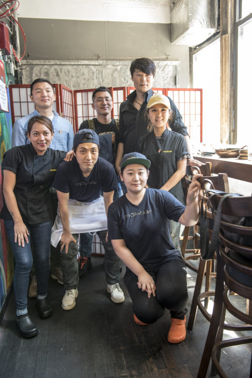 Visiting Korean chefs with Esther choi and staff at mokbar